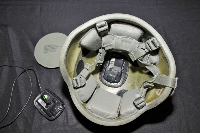 A helmet sensor and data retrieval system measures impact and pressure events continuously. This device is placed into the helmet, weighing only 2 ounces, to analyze the correlation between experienced head forces and Mild Traumatic Brain Injury. This will aid in determining whether a Soldier should seek immediate medical attention and aid in the long-term care of the Soldier. Using low power, the battery can last up to 12 months. The National Football League is interested in an exchange of information that could aid in development of future systems capable of targeting and measuring affects to specific parts of the human body.