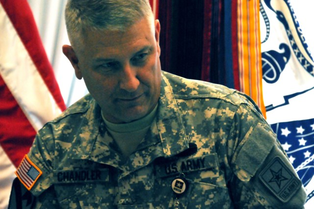 Sgt. Maj. of the Army Raymond F. Chandler III, tells Soldiers thinking about suicide that it's OK to ask for help. He also discussed his own behavioral health challenges and treatment on the eve of the Army's suicide stand-down, Sept. 27, 2012.