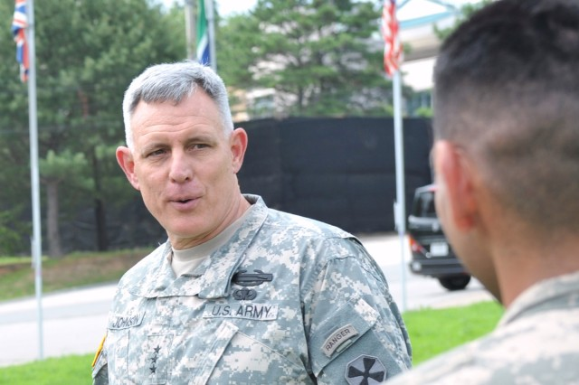 Eighth Army Commanding General Lt. Gen. John D. Johnson sent a video message to Korean people to mark the annual Chuseok holiday