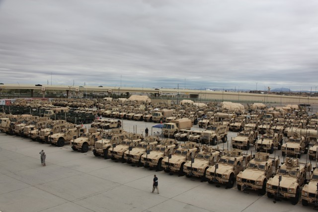 Three hundred sixty-one vehicles were integrated for NIE 13.1 at the Integration Motor Pool, or IMP, located at Fort Bliss, Texas. At the IMP, the Army's System of Systems Integration Directorate leads integration of network equipment onto various vehicle platforms, and validates system performance prior to the start of the evaluation in October.