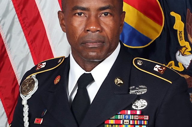 Sgt. 1st Class Delroy Barnett, an advanced individual training platoon sergeant from the 32nd Medical Brigade at Fort Sam Houston, Texas, has been selected as the 2012 AIT Platoon Sergeant of the Year. The announcement was made during a ceremony at Fort Eustis, Va., Sept. 28, 2012.