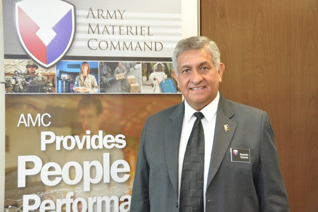 Rudy Chavez, a specialist with nearly 25 years of AMC experience, currently assigned to the AMC Current Operations and Plans Division shares his perspective on the successes of AMC during a time of transition. U.S. Army Photo.