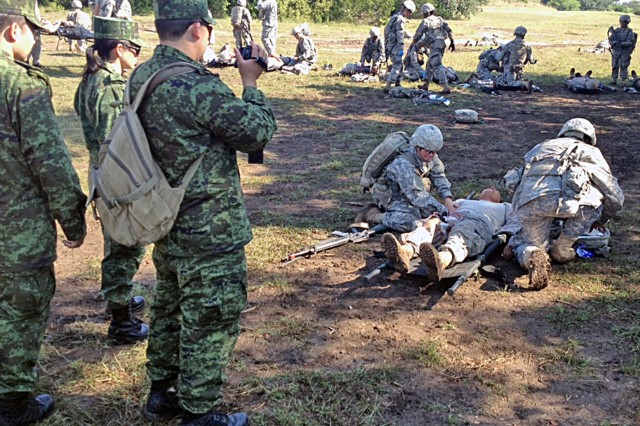 Mexican Army Doctors Visiting Camp Bullis Save Man In San