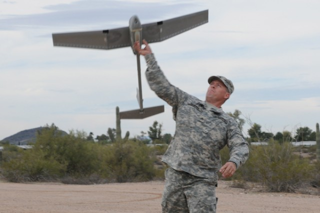 Army Reserve military police with 200th Military Police Command spend their battle assembly weekends in remote locations fine-tuning their unmanned aerial vehicle flying skills.
