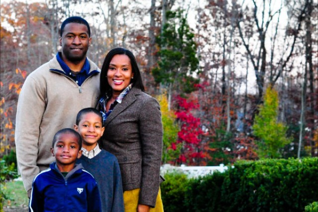 Maj. Archie Bates III with wife Jacquetta, son Isaiah, 7, and Archie IV, age 10.
