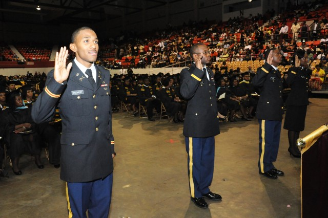 The University of Arkansas-Pine Bluff is one of 23 Historically Black Colleges and Universities (HBCU) that host Army ROTC programs. The program produced 12 new Army officers during 2012.