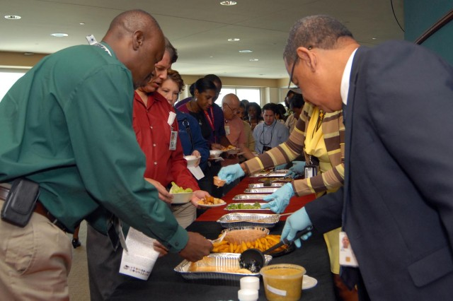 Hispanic food is served following the Team Redstone Hispanic American Heritage Month observance.