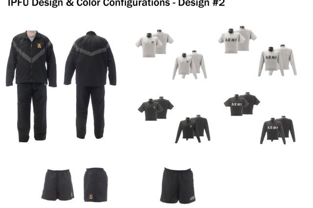 Improved Physical Fitness Uniform design and color configuration, design option #2