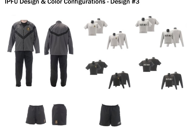 Improved Physical Fitness Uniform design and color configuration, design option #3