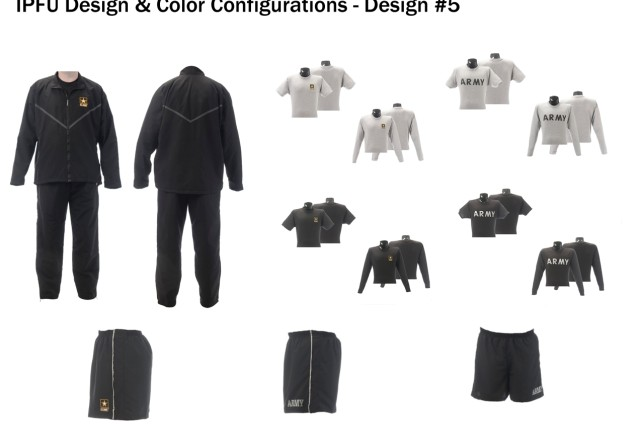 Improved Physical Fitness Uniform design and color configuration, design option #5