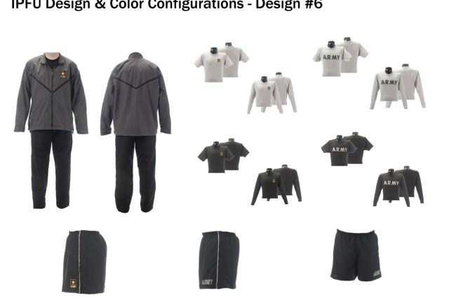 Improved Physical Fitness Uniform design and color configuration, design option #6