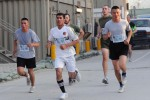 Mentors invite Afghan National Army soldiers to participate in Army Ten-Miler shadow run