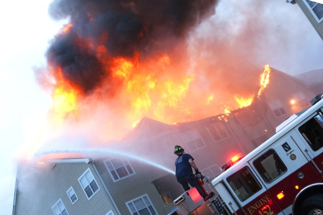 Fort Meade Firefighters Battle The Blaze Of A Fire At The Seven Oaks  Apartments In Odenton