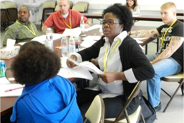 Delegates discuss issues during annual Army Family Action Plan conference at the Multipurpose Center in Rose Barracks, Oct. 2-4.