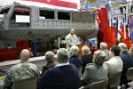 Depot commander, Col. Victor S. Hagan speaks at dedication