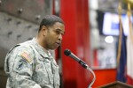Sgt. 1st Class Julian Kitching praises Master Sgt. Bitner's leadership