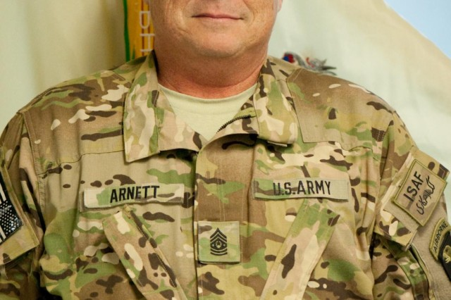 U.S. Army Command Sgt. Maj. Marion E. Arnett, command sergeant major TF Troubleshooter, strives to mature his soldiers so that when he steps out of responsibility the Army will be turned over to equal or greater care.