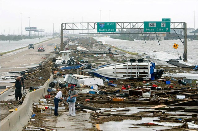 In 2008,the aftermath of Hurricane Ike left the city of Galveston in disarray and the Southwestern Division Sabine Pass study at a stand still. Today, with less money to work with, the Corps is looking at new ways to carry on the study within the confines of the Civil Works transformation guidelines. (courtesy photo)
