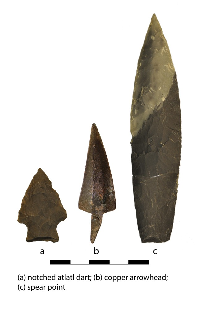 Prehistoric artifacts found from sites on Fort Wainwright, Alaska