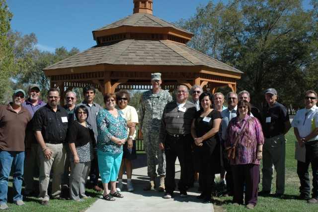 Members of the Walker River Paiute Tribe and Hawthorne Army Depot, Nev., employees at signing of a Memorandum of Understanding.