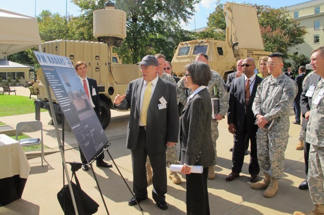 Assistant Secretary of the Army for Acquisition, Logistics and Technology Heidi Shyu toured the Pentagon courtyard, Oct. 10, 2012, to view Product Manager, Radars' equipment demo.