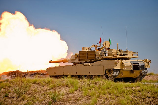M1A2 Abrams main battle tank at Fort Benning, Ga.