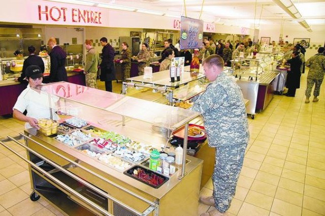 Once again, the Freedom Inn Dining Facility has been nominated to compete for the prestigious Philip A. Connelly Award for Excellence in Army Food Service. The Armywide competition has several categories including large garrison, small garrison and field kitchens. In fiscal year 2011, the Freedom Inn took first place in the Large Garrison Category. (File photo)