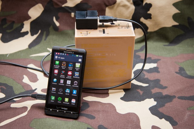 A team of U.S. Army engineers are developing new battery chargers for smartphones, tablet computers and laptops for deployed Soldiers without access to a traditional electrical grid. They have engineered and built prototypes for 8-port, 4-port, and 2-port USB chargers, as well as an AC/USB adapter -- all of which use a military standard battery such as the BB-2590 as the main power source. The 2-port USB charger enables charging for two smartphones simultaneously.