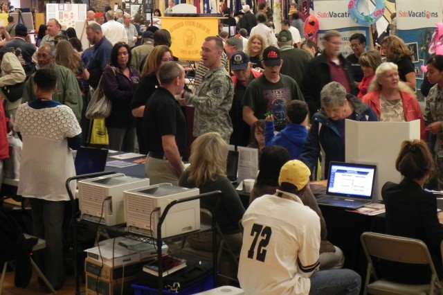 FORT CARSON, Colo. -- Retirees and spouses fill the Special Events Center Saturday during Retiree Appreciation Day Saturday. About 2,000 people were in attendance.