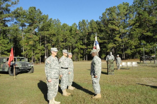FORT JACKSON, S.C.--Col. Mark Cook of Charlotte, N.C., relinquished command of 206th Army Liaison Detachment, 412th Theater Engineer Command, to Col. Mark Ricchiazzi, a native of Buffalo, N.Y., in a ceremony held here Oct. 13, 2012.