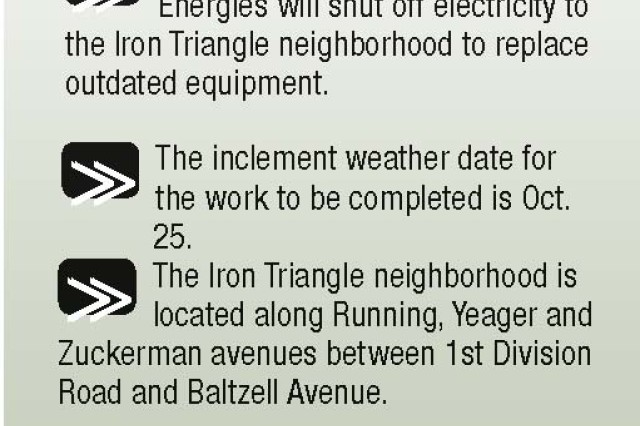 Residents of the Iron Triangle will be without power for 12 hours Oct. 23.