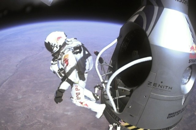 """The Equivital Life Monitor that """"Fearless"""" Felix Baumgartner strapped on before his 128,100-foot, record-breaking jump was supported and developed with the assistance of researchers at the U.S. Army research Institute of Environmental Medicine's Biophysical and Biomedical Modeling Division, in Natick, Mass."""