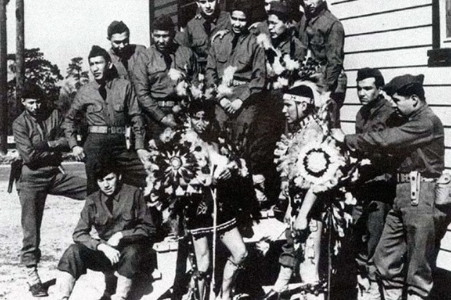 Comanche code-talkers of the 4th Signal Company.