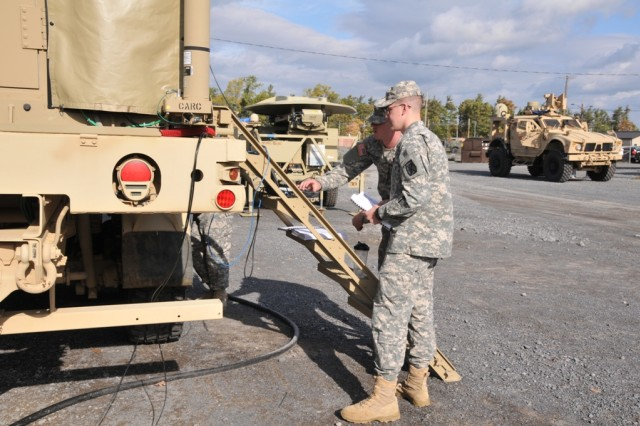 Soldiers from the 10th Mountain Division train on vehicles networked with Capability Set 13 technologies at Fort Drum, N.Y., this month. The Army will continue to enhance that technology through the Network Integration Evaluations, senior leaders said.