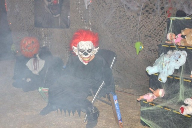 Inside the haunted house, volunteers attempted to scare everybody who tried to walk through; many screams could be heard coming from inside.