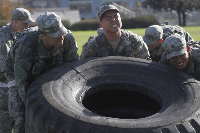 Roughly 300 cadets from the Class of 2014 and Class of 2015 took on physical and mental challenges, Oct. 20, 2012, as they endured a day-long assessment in hopes of earning one of several competitive Military Individual Advanced Development programs next summer. Military Individual Advanced Development programs, like Special Forces Assessment and Selection, the Sapper Leader Course and the Royal Military Academy Sandhurst, are highly-sought training opportunities and the MIAD selection process determines which cadets want it the most by proving they are the best of the best.