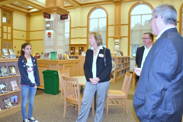 NSRDEC representatives tour Natick High School
