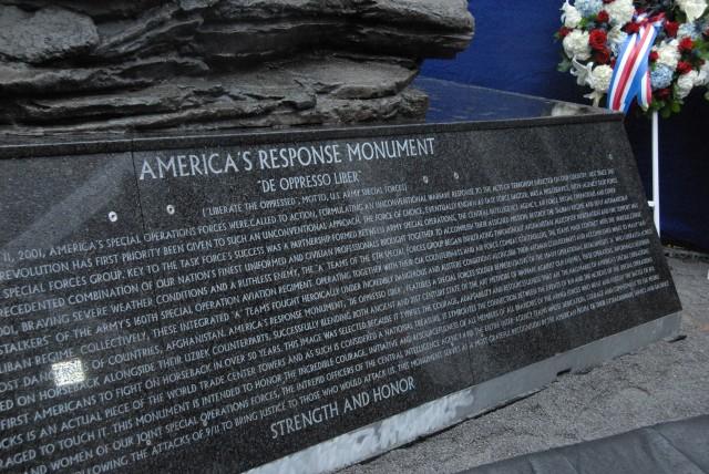 America's Response Statue Rededication
