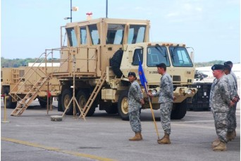 A ribbon cutting ceremony showcasing the new AN/MSQ-135 Mobile Tower System was held on Hunter Army Airfield, Oct. 25, for Company F, 2nd Battalion, 3rd Aviation Regiment, 3rd Combat Aviation Brigade.