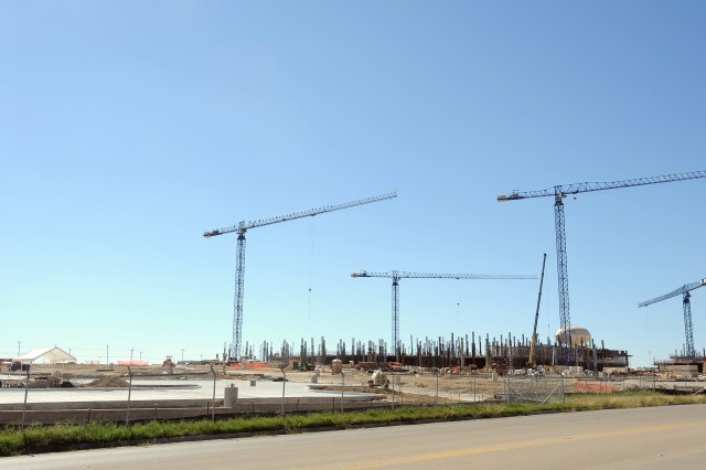 A planned National Intrepid Center of Excellence Satellite facility, which is currently slated to be complete in December 2015, will likely be situated on the new Carl R. Darnall Army Medical Center campus (pictured under construction above) at Fort Hood, Texas. The center, which will be gifted to the post by the Intrepid Fallen Heroes Fund, will treat Soldiers with traumatic brain injury and other complicating diagnoses.