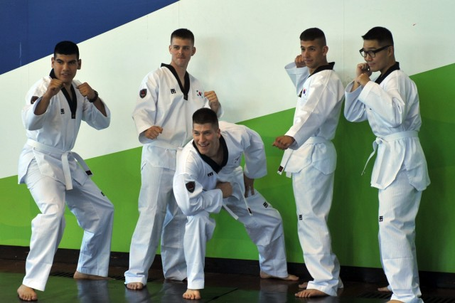 U.S. Soldiers train at World Tae Kwon Do headquarters