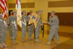 Hammons unfurls 883rd QM guidon