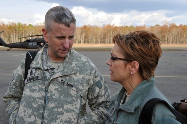 Hurricane Sandy: National Guard senior leader visit