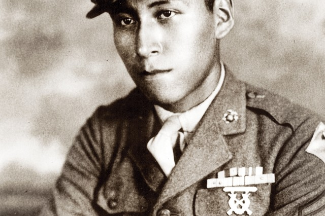 "Cpl. Mitchell Red Cloud Jr., for whom Camp Red Cloud in Uijeongbu, South Korea, is named, was killed holding off a night attack Nov. 5, 1950, during the Korean War. He was awarded the Medal of Honor for his ""dauntless courage and gallant self-sacrifice."""
