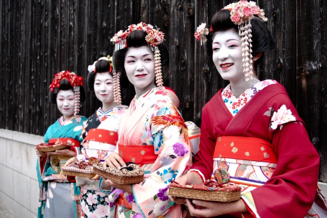 The traditional dress of the women of Kyoto, Japan, was one of many things Soldiers involved in Orient Shield 12 saw while on culture day.  Troops from both the Japan Ground Self Defense Force and 1st Battalion, 14th Infantry Regiment, went to the ancient city of Kyoto, Japan, for culture day