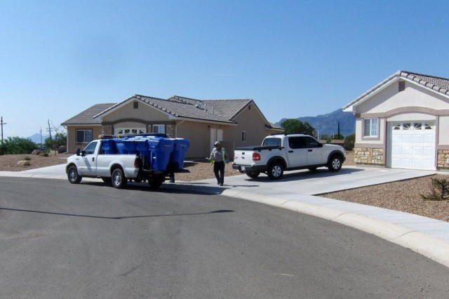 Mountain Vista Communities will deliver blue recycle bins to residents so that they may start recycling. To have a bin delivered, call maintenance at 458.5885.