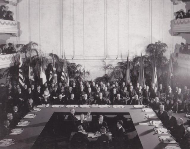 The delegates at the Washington Naval Conference, November 1921
