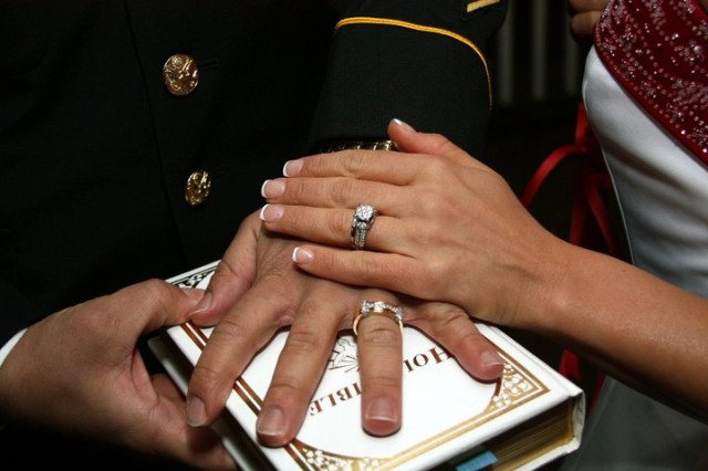 The Mitchells were married in 2010 after meeting during a deployment to Iraq a year earlier.
