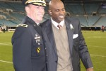 Brig. Gen. MacEwen and Deion Sanders