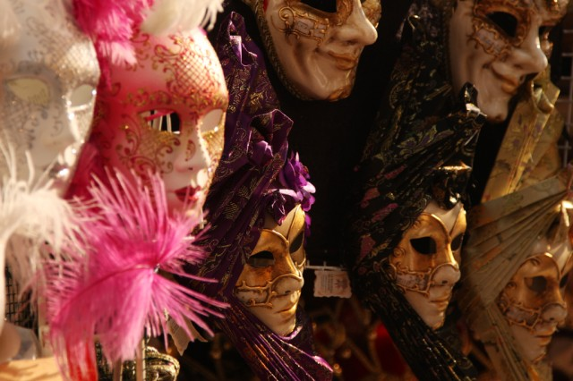 Traditional gifts from Venice such as ornate Carnivale masks are in plentiful supply.